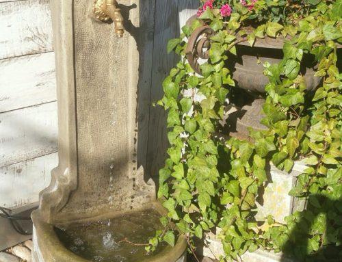 Brunnen für Wasserhahn